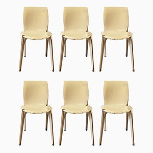 Italian Model Lambda Dining Chairs by Marco Zanuso for Gavina, 1960s, Set of 6