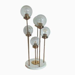 Lámpara de pie Sputnik Mid-Century de Kamenický Šenov, años 70