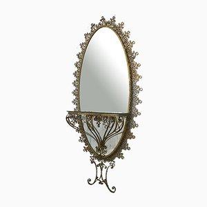 Specchio in ferro battuto, anni '60