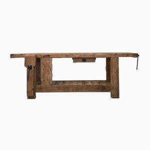 Tavolo da lavoro vintage in legno