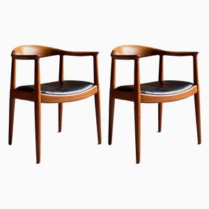Model JH503 Side Chairs by Hans J. Wegner for Johannes Hansen, 1950s, Set of 2