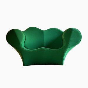 Sofá italiano grande verde de Ron Arad para Moroso, años 90