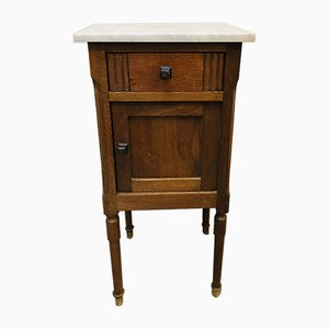 Vintage French Marble Top Cabinet, 1920s