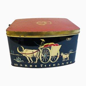 Caja de té alemana vintage de teekanne, años 60