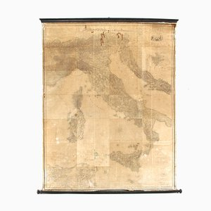 Antique Italian Map from Stabilimento Giuseppe Civelli