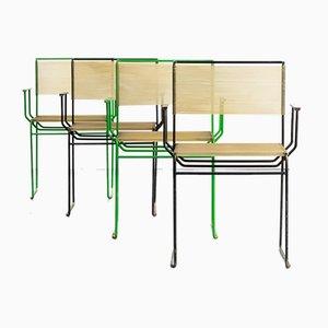 Esszimmerstühle von Giandomenico Belotti für Fly Line, 1970er, 4er Set