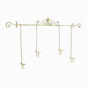 Hollywood Regency Style Hanging Candleholder Rack, 1970s