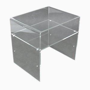 Plexiglas Side Table, 1980s