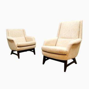 Niederländische Armlehnstühle, 1960er, 2er Set