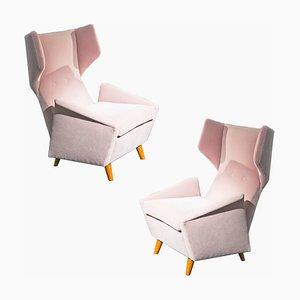 Samt Sessel von Melchiorre Bega, 1950er, 2er Set