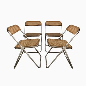 Wood & Pine Dining Chairs by Giancarlo Piretti for Castelli / Anonima Castelli, 1970s, Set of 4