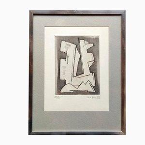 Gravure à l'Eau-Forte par Alberto Magnelli, 1962