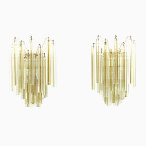 Murano Glass Sconces from Venini, 1960s, Set of 2