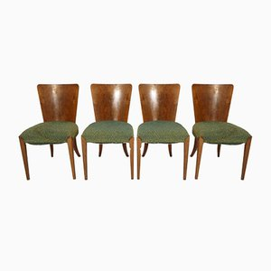 Art Deco Dining Chairs by Jindřich Halabala for Thonet, 1940s, Set of 4