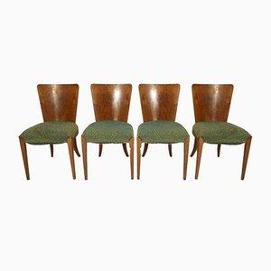 Art Deco Esszimmerstühle von Jindřich Halabala für Thonet, 1940er, 4er Set