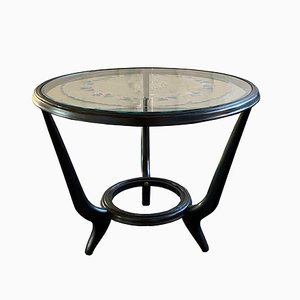Mid-Century Modern Italian Round Coffee Table, 1950s