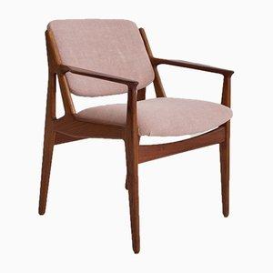 Modell Ellen Beistellstuhl aus Teak von Arne Vodder für Vamø, 1950er