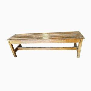 Italian Wood Bench, 1950s