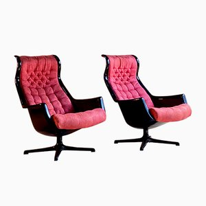 Galaxy Chairs by Alf Svensson & Ingvar Sandstrom for Dux, 1968, Set of 2