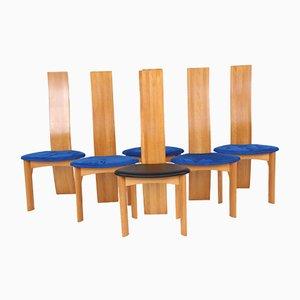 Sillas de comedor vintage de Bob & Dries van den Berghe para Tranekær Furniture. Juego de 6