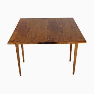 Antique German Biedermeier Birch Folding Console Table