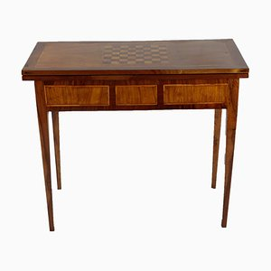 Antique Walnut Game Folding Table