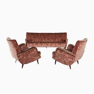 806 Sofa & Sessel von Carlo de Carli für Cassina, 1950er, 3er Set