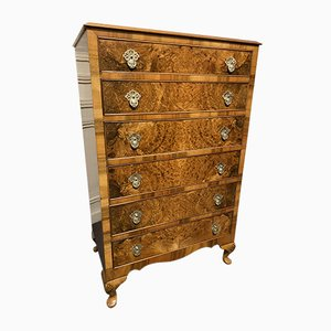 Burr Walnut Chest of Drawers, 1920s