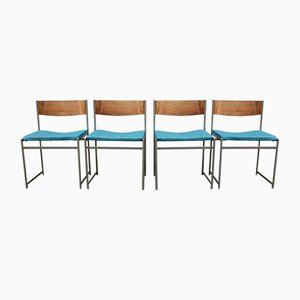 Mid-Century Palisander SM Esszimmerstühle von Cees Braakman für Pastoe, 4er Set