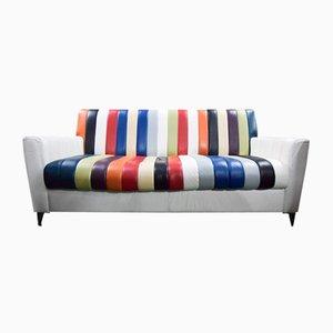 Mid-Century Leather Sofa