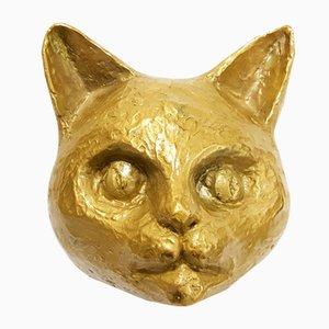 Katzen Skulptur von Robert Goossens, 1980er