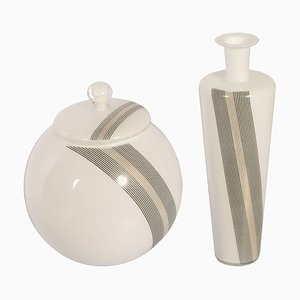 Murano Glass Vases by Tapio Wirkkala, 1960s, Set of 2