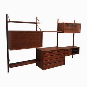 Mid-Century Teak Shelf from ISA Bergamo, 1960s