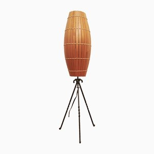 Industrial Wooden Floor Lamp, 1970s