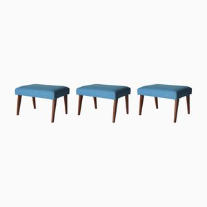 Teak Hocker, 1950er, 3er Set