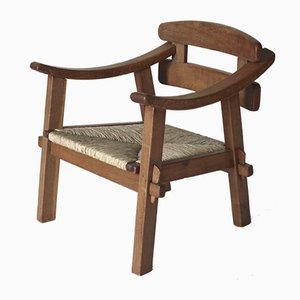 Moderner Armlehnstuhl aus Ulmenholz von Bas van Pelt, 1940er