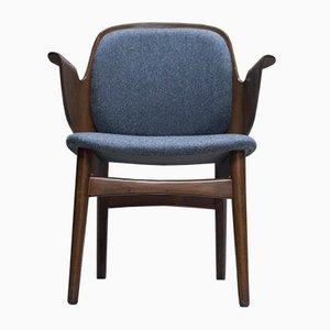 Grauer Mid-Century Modell 107 Sessel von Hans Olsen für Bramin, 1950er
