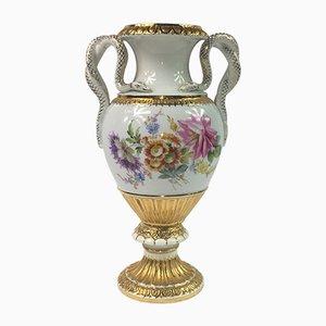 Antike Snake Vase von Ernst August Leuteritz für Meissen
