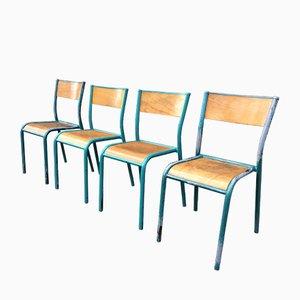 Französische Stühle von Mullca, 1960er, 4er Set