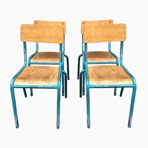 School Chairs from Mullca, 1960s, Set of 4