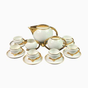 Vintage Art Deco Coffee Set by B.Wendorf for Cmielow, Set of 9
