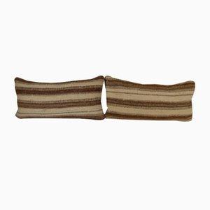 Handgewebte Lumbar Kelim Kissenbezüge von Vintage Pillow Store Contemporary, 2er Set
