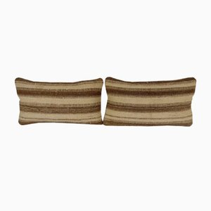 Handwoven Lumbar Kilim Pillow Covers by Vintage Pillow Store Contemporary