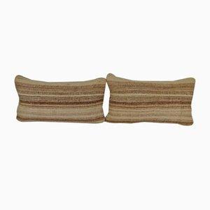 Housses de Coussin Kilim Rayées par Vintage Pillow Store Contemporary, Set de 2