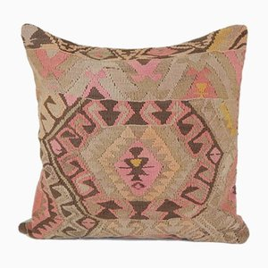 Housse de Coussin Kilim en Laine Tissée à la Main par Vintage Pillow Store Contemporary, Turquie