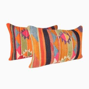 Gewebte Kelim Überwurf Kissenbezüge von Vintage Pillow Store Contemporary, 2er Set