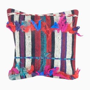 Türkischer Handgewebter Mehrfarbiger Flokati Teppich-Kissenbezug von Vintage Pillow Store Contemporary
