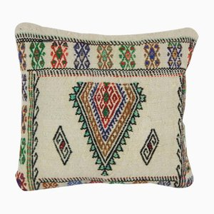 Hemp Pillow Cover With Zig Zag Stitch by Vintage Pillow Store Contemporary