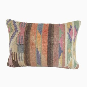 Turkish Anatolian Stripe Design Kilim Pillow Cover by Vintage Pillow Store Contemporary