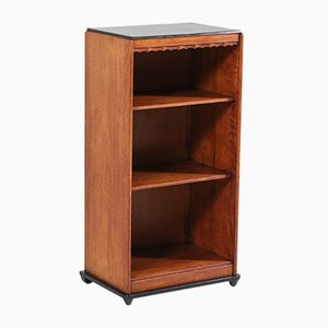 Dutch Art Deco Oak Open School Bookcase from Metz & Co, 1920s
